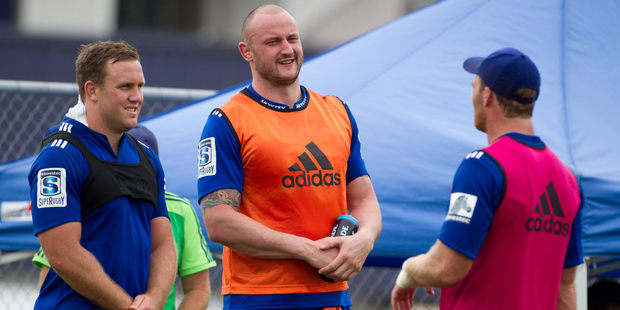 Hayden Triggs at the Blues training ahead of their Super Rugby season opener this weekend. Photo / Richard Robinson