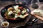 Labneh and black bean salad. Photo / Babiche Martens.
