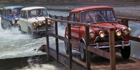 The Italian Job starring Michael Caine and three Mini Coopers