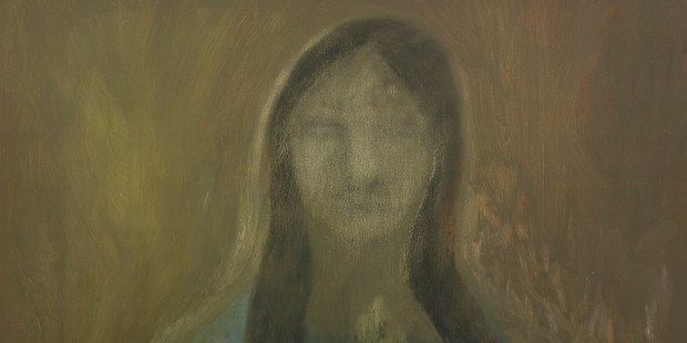 Star Gossage 'Woman in Veil' 2006 oil on board , detail.
