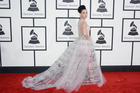 Katy Perry arrives at the 56th annual Grammy Awards. Photo / AP