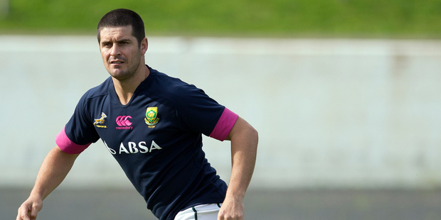 Morne Steyn is playing for Stade Francais while still in contention for the Springboks. Photo / Getty Images
