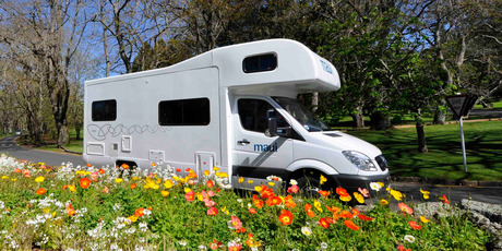Travelling with kids? Establish a routine where you park the motorhome and one adult takes the sprogs for a stroll while the other transforms the interior.