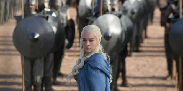 Actress Emilia Clark in Sky TV's hit series Game of Thrones. Telecom's announcement of ShowMeTV could be the first step in the development of a serious Pay TV rival for Sky.