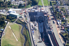 Aerial photograph of the Southern end of the Waterview Connection in Mt Roskill, Auckland. Photo / NZ Herald
