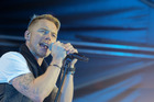 Ronan Keating sampled some of the Mission's finest wine while on stage at the weekend. Photo/Warren Buckland
