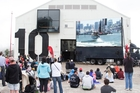 Shed 10 provided a waterfront venue for America's Cup screenings. Photo / Greg Bowker