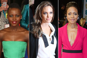 Lupita Nyong'o, Angelina Jolie and Naomie Harris arrive on the red carpet. Photos / AP, Getty Images
