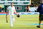 Brendon McCullum leaves the ground after batting for the entirety of day four. Photo / Getty Images