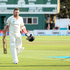 Brendon McCullum leaves the field on 281 at stumps on day four. Photo / Getty Images