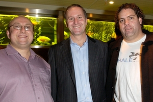 David Farrar, left, John Key and Cameron Slater. Photo / Norrie Montgomery