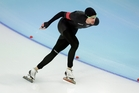 Speedskater Shane Dobbin had a top 10 finish at Sochi. Photo / AP