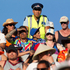Police keep an eye on the NRL Auckland Nines at Eden Park, Auckland. Photo / Richard Robinson