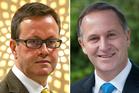 Head of the GCSB spy agency, Ian Fletcher, and Prime Minister John Key. Photo / Hagen Hopkins/Simon Hoyle
