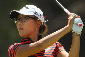 Lydia Ko made a double bogey at the par-four sixth. Photo / Getty Images