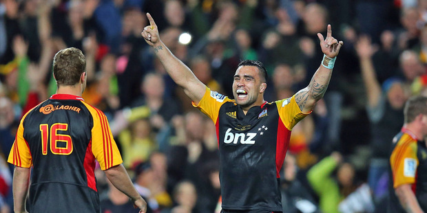 Loading Liam Messam celebrates after the Chiefs won their second Super Rugby title. Photo / Getty Images