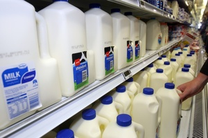 The average price of two litres of milk fell from $3.23 in 2008 to $3.19 last year. Photo / Lynda Feringa