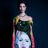 ARTPOP: Prada jewel-encrusted dress featuring artwork by Jeanne Detallante $19,160. Vintage YSL earrings, $390, from Love and Object. Ruby necklace, $89, and bracelet $59. Ingrid Starnes gloves.
