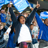 Super Rugby: Blues fans against the Crusaders at Eden Park, Auckland. Photo / Richard Robinson