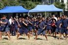 Te Kura Kaupapa Maori o Tupoho boys break into a haka.Photo/Stuart Munro