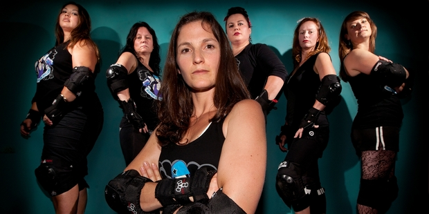 The Sulphur City Steam Rollers are looking for new members to get serious about the sport. Photo / Ben Fraser