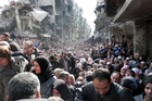 The Palestinian people of Yarmouk have been besieged by the forces of President Bashar al-Assad as Syria's civil war rages around them. Photo / AP