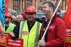 Matt McCarten and David Cunliffe protest for workers' rights in 2010. Photo / Getty Images