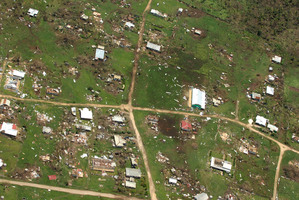 The damage to Ha'apai island group, in Tonga, following Cyclone Ian. Photo / Royal New Zealand Air Force