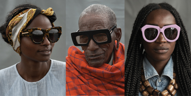 The new Karen Walker Eyewear campaign, photographed by Derek Henderson, features those who work on the Ethical Fashion Initiative project.