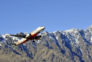 Jetstar A320 taking off from Queenstown airport. Photo / File