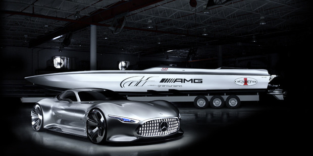 Mercedes AMG inspired Cigarette boat has been unveiled