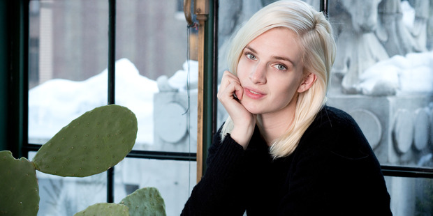 Model Ashleigh Good photographed in the office of her agency Ford Models during NY Fashion Week. Photo / Babiche Martens