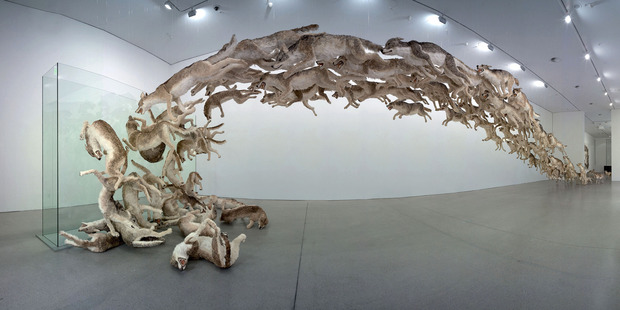 Cai Guo-Qiang's 'Head On 2006'.