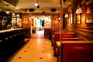 The bar at The Marlton Hotel in Greenwich Village. Photo / Babiche Martens