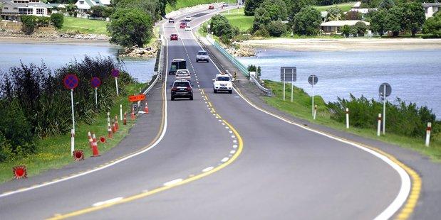 Maungatapu bridge where Iain Crisp caused a fatal accident December, killing Tauranga father Greg Woledge.
