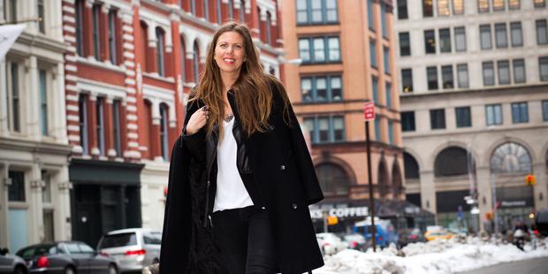 Fashion merchandise planner Annik Bunting on the streets near her East Village office. Photo / Babiche Martens.