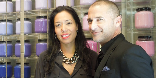 M.A.C product development leaders Nicole Masson and Nick Gavrelis. Photo / Supplied