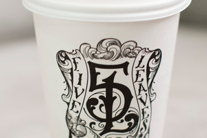 Five Leaves coffee cup.