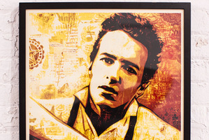 Joe Strummer portrait by Shepard Fairey.