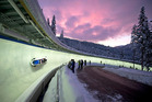 The bobsleigh run at the Whistler Sliding Centre in Canada. Photo / David McColm