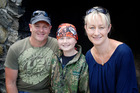 Harrison, 11, with dad Allan and mum Hayley Mundy. Photo/Supplied