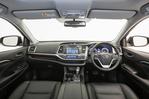 The front dash of the Toyota Highlander Limited.