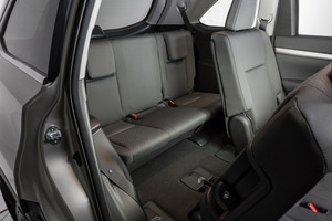 The third row of seats in the Toyota Highlander base model GX