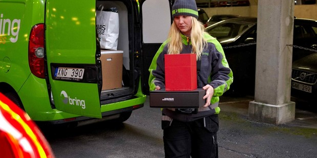 Volvo has a vision of courier firms and motorists saving time and money.