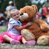 Ariah Thorp (3) with 'Big Bear' at the Teddy's Bears Picnic at the Western Springs Lakeside, Auckland. 23 Febuary 2014. Photo / New Zealand Herald / Jason Oxenham.