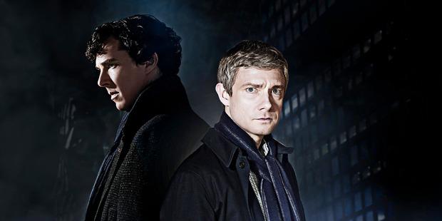 Benedict Cumberbatch and Martin Freeman star in 'Sherlock'.