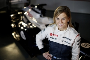 Williams development driver Susie Wolff will be taking part in practice for this years British and German Grand Prix. The first Woman to drive a F1 race since 1992. Photo / AP