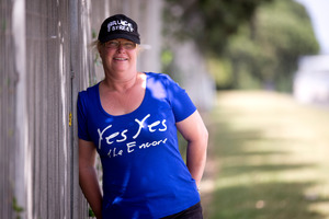 Kiwi Bruce Springsteen fan Sue Pinkney will be there on both nights to see her idol. Photo / Dean Purcell