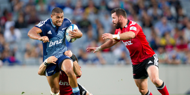 Super Rugby: Blues Charles Piutau in action against the Crusaders at Eden Park, Auckland. February 2014 New Zealand Herald Photograph by Richard Robinson.
