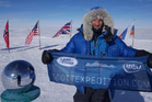 Polar explorer Ben Saunders pictured in Antarctica. Photo / AP